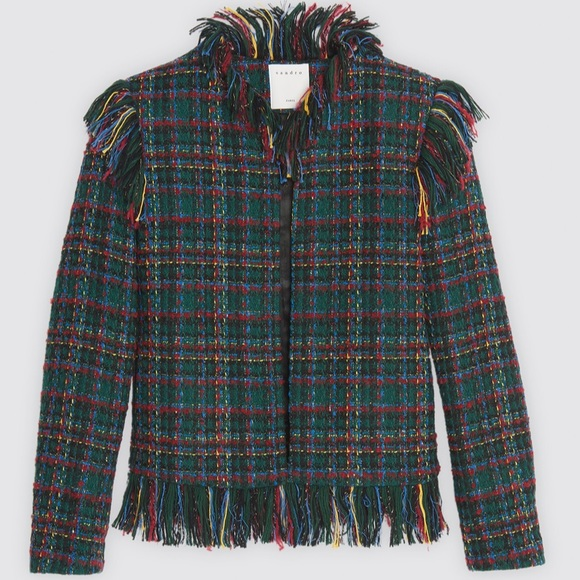 NWOT Sandro Multicolor Tweed Jacket